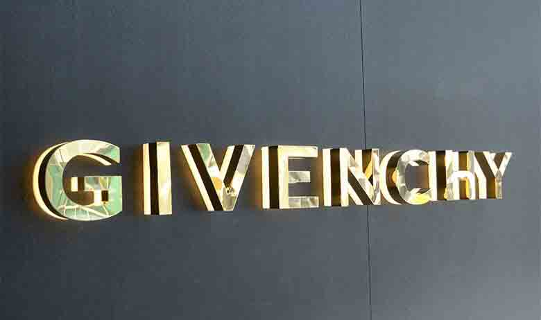 mirror polished brass led channel letters signage